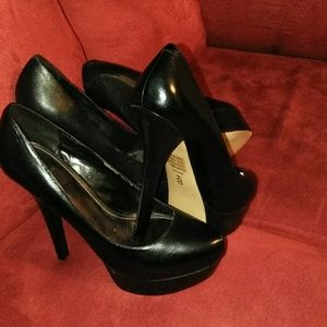Shoes - any 2 pairs for $30 Black leather heels